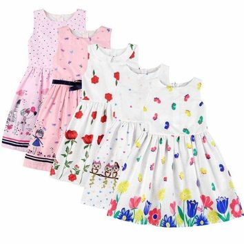 US Toddler Kids Baby Girls Sleeveless Princess Dress Casual Party Dress Sundress