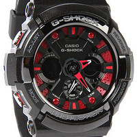 G-Shock Watch Ga 200 in Black & Red