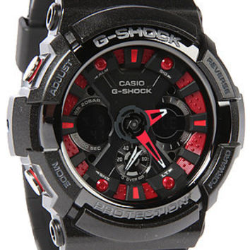 G-SHOCK  The GA 200 Watch in Black Red : Karmaloop.com - Global Concrete Culture