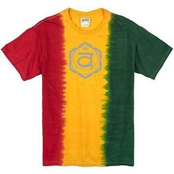 Yoga Clothing for You Mens Swadhisthana Chakra Tie Dye T-Shirt
