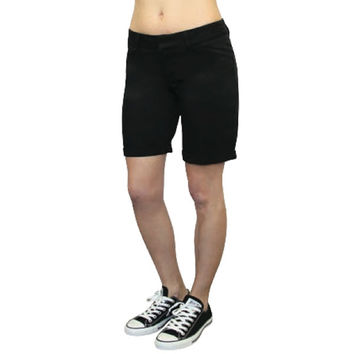 """Dickies Girl - 9"""" College Short Womens High Rise Shorts"""