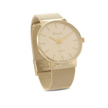 Geneva Mesh Unisex Fashion Watch