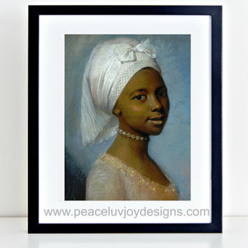 Vintage Women Print, 8X10, African American Portrait, Paris Decor, Vintage Poster, African Wall Art, Instant Download, Vintage Printable