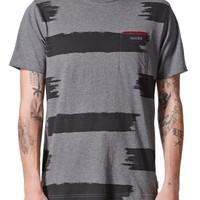 Nixon Swipe Knit T-Shirt - Mens Tee - Black