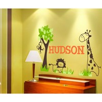 Alphabet Garden Designs It's a Jungle Out There Wall Decal - child158