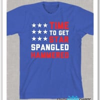 Star Spangled Hammered Fourth of July Drinking Funny Shirt