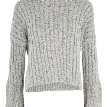 Chunky Wide Ribbed Roll Neck Jumper - New In Fashion - New In