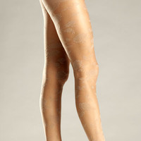Floral Woven Pantyhose