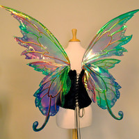 Delia 3 panel large fairy wings in your choice of colors