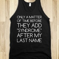 Me-syndrome-Unisex Black Tank