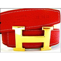 CHEN1ER Sports Hermes Belt Red