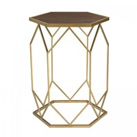 Jonah Side Table, Gold