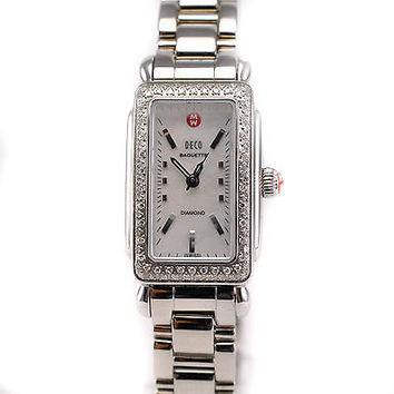MICHELE DECO MW06R01A1025 0.36CT BAGUETTE DIAMOND STAINLESS QUARTZ WOMENS WATCH