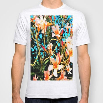 Flowers on Fire T-shirt by Yuval Ozery
