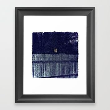 Fences Framed Art Print by Jessica Ivy