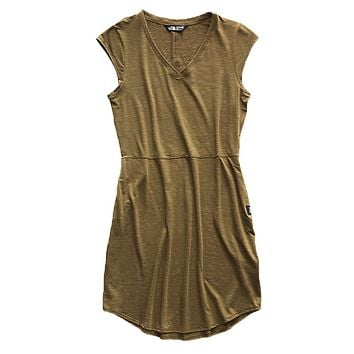 Women's Short Sleeve EZ Tee Dress in Beech Green Heather by The North Face