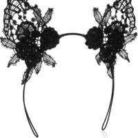 Mimi Holliday by Damaris | Lace cat ear headband | NET-A-PORTER.COM
