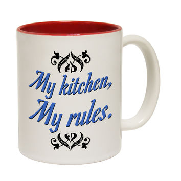123t USA My Kitchen My Rules Funny Mug