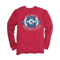 Exclusive Preppy and Football Long Sleeve Tee in Rhubarb by Southern Proper - FINAL SALE