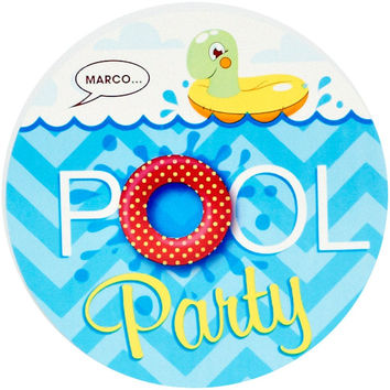 splashin' pool party invitations Case of 4