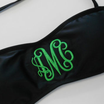 Padded Monogram Bandeau Swim Suit Top Font Shown INTERLOCKING