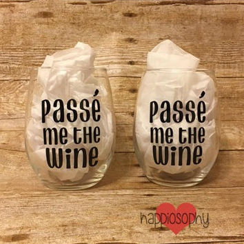 Passe Me The Wine Glass, Dance Teacher Gift, Dance Wine Glass, Funny Dance Gift, Ballet Teacher Gift, Ballet Dance, Dancer Gift, Dance Coach