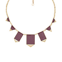 Classic Station Pyramid Necklace in Gold & Sangria