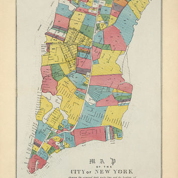 Antique Map of New York City (1852) - Archival Reproduction