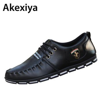 2018 Autumn Winter Add Wool PU Leather Shoes Men's Business Shoe Man Breathable Casual Shoes Moccasins Boat Flat Shoes AA29