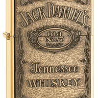 Zippo Jack Daniel's Label Brass Emblem High Polish Brass Lighter