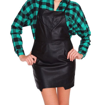 Angel City Overall Dress - Black