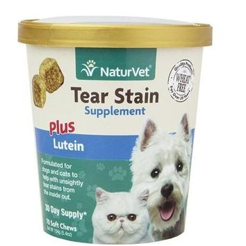 NaturVet Tear Stain Supplement Dog & Cat Soft Chews 70ct