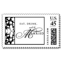 Eat, Drink, and be Married Stamp from Zazzle.com