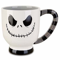 disney parks jack skellington white stripes coffee cup mug new