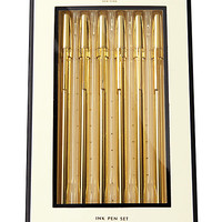Kate Spade Strike Gold Pen Set Gold ONE
