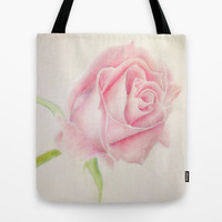 Simple Rose Tote Bag by Susaleena