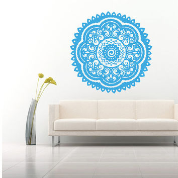 Wall Decal Vinyl Sticker Decals Art Home Decor Mural Mandala Ornament Indidan Geometric Moroccan Pattern Yoga Namaste Flower Om Bedroom AN33