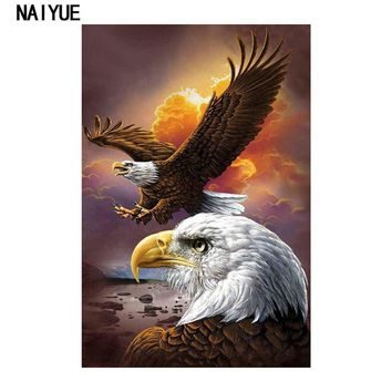 Animals Philadelphia Eagle Diamond Painting Cross Stitch Embroidery DIY Crystal Mosaic Crafts Wall Stickers Home Decorations