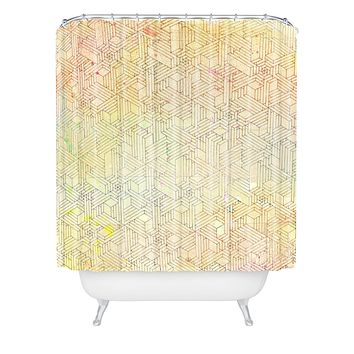 MIK Geometric Perspective Shower Curtain
