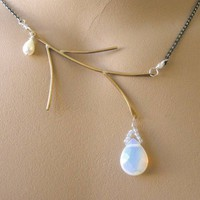 Opalite Bronze Branch Silver Camp Sundance necklace