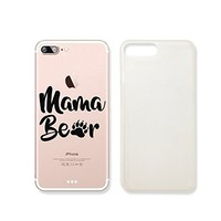 Happy Mother Day Mama Bear Super Mom Slim Iphone 7/8PLUS Case, Clear Iphone Hard Cover Case For Apple Iphone 7/8PLUS Emerishop (VAE514, iphone 7/8PLUS)