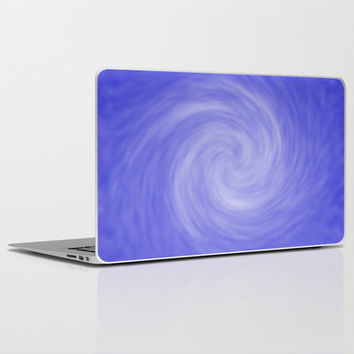 Soft Blue Radial Abstract Laptop & iPad Skin by Tigerlynx