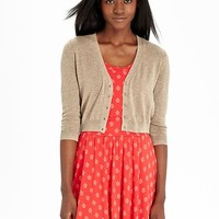 Old Navy Womens Cropped V Neck Cardigans