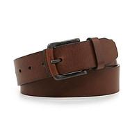 Fossil Carson Leather Belt - Dark Brown