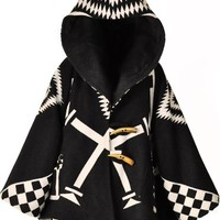 Lindsey Thornburg Hooded Los Ojos Trench Cloak