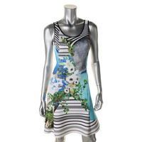 Clover Canyon Womens Neoprene Floral Print Tank Dress