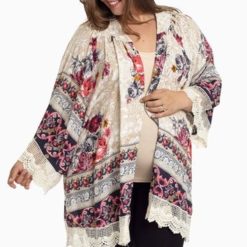 Navy-Blue-Floral-Lace-Plus-Size-Maternity-Cardigan