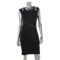 ABS by Allen Schwartz Womens Knit Studded Cocktail Dress