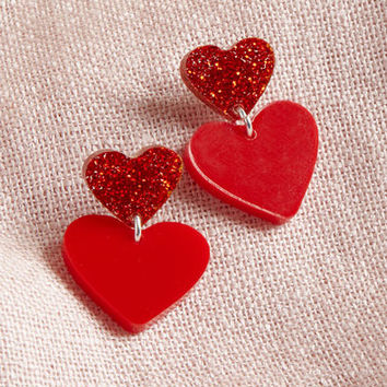 Vinca Play Heart to Get Earrings