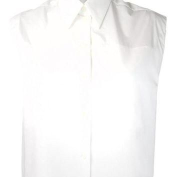 ONETOW white sleeveless button down balenciaga 2